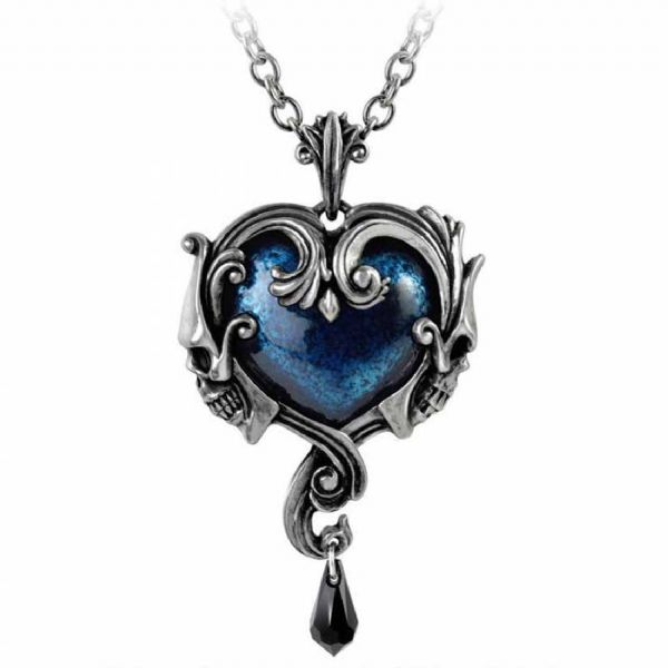 ALCHEMY GOTHIC Affaire du Coeur Blue Heart Necklace